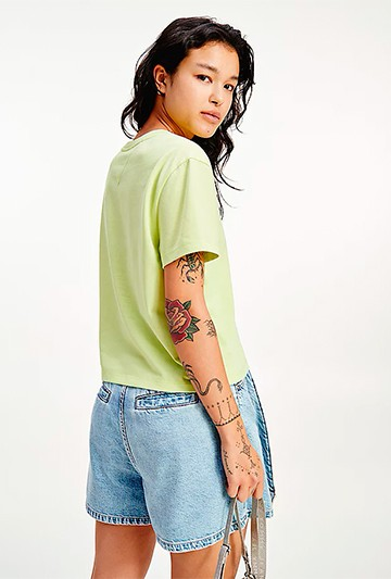 Camiseta Tommy Hilfiger TJW BADGE verde