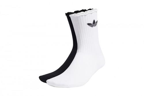 Calcetines adidas CLÁSICOS RUFFLE blancos y negros