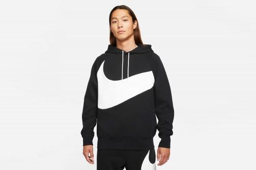 Sudadera Nike Sportswear Swoosh Tech Fleece negra