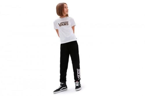 Camiseta Vans FLYING V LEOPARD BOXY blanca