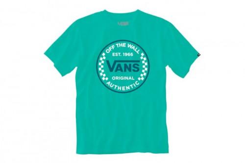 Camiseta Vans AUTHENTIC CHECKER SS Verde