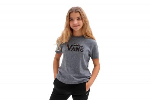 Camiseta Vans FLORAL V gris