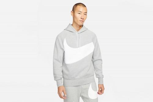 Sudadera Nike Sportswear Swoosh Tech Fleece gris