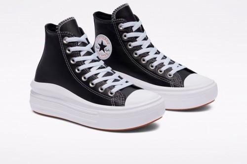 Zapatillas Converse Leather Chuck Taylor All Star Move High Negras