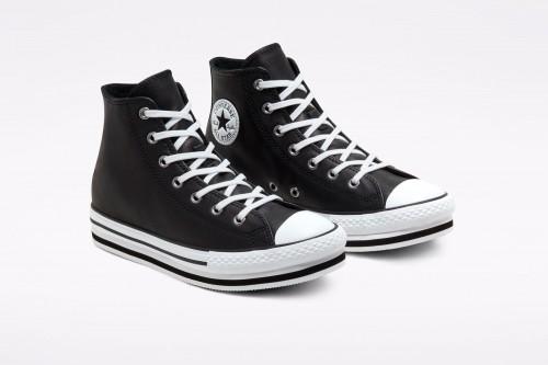 Zapatillas Converse Leather Chuck Taylor All Star Platform Negras