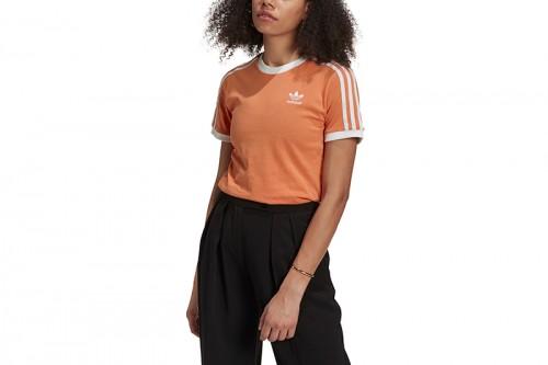 Camiseta adidas ADICOLOR CLASSICS 3 BANDAS naranja