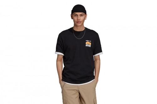 Camiseta adidas ADV MNT BACK TE negra