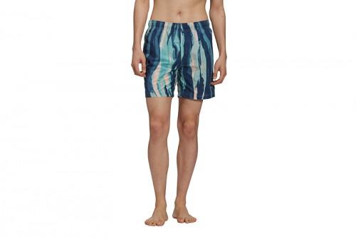 Bañador adidas SWIMSHORT AOP azul