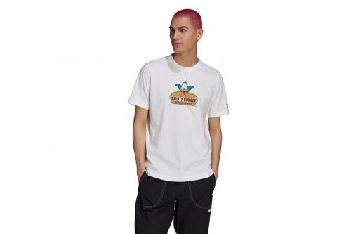 Camiseta adidas LOS SIMPSONS KRUSTY BURGUER blanca
