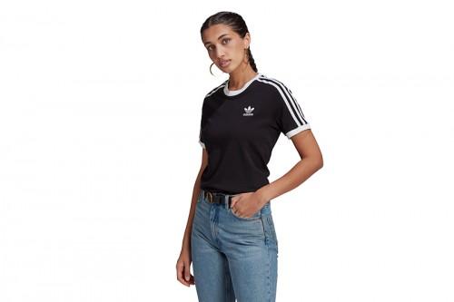 Camiseta adidas ADICOLOR CLASSICS 3 BANDAS negra