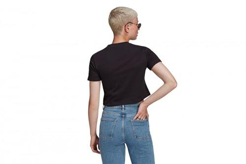Camiseta adidas CROP TOP negra