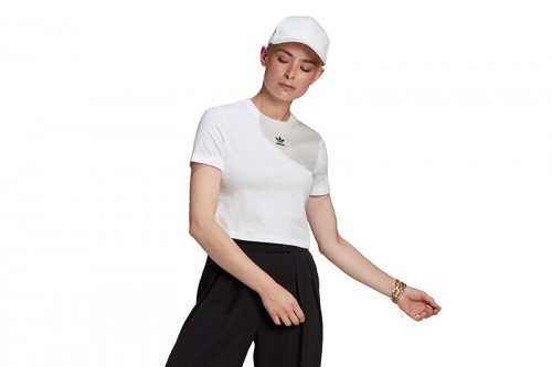 Camiseta adidas CROP TOP blanca