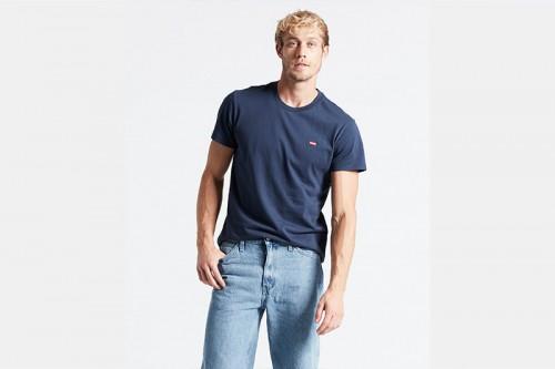 Camiseta Levi's CAMISETA LEVI´S AZUL LOGO PEQ azul