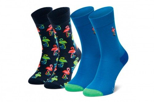 Calcetines Happy Socks 2-PACK FLAMINGO SOCKS GIFT SET negros
