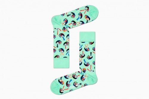 Calcetines Happy Socks 3-PACK FOOD LOVER SOCKS GIFT SET negros