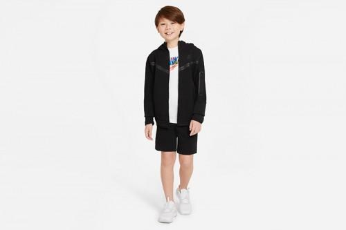 pantalones cortos Nike Sportswear Tech Fleece negros
