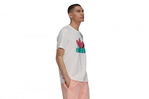 Camiseta adidas 5 AS blanca