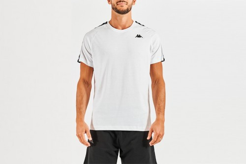 Camiseta Kappa COEN SLIM 222 BANDA blanca
