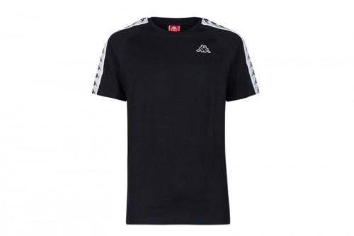 Camiseta Kappa COEN SLIM 222 BANDA negra