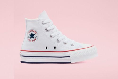Zapatillas Converse CTAS EVA LIFT HI WHITE/GARNET Blancas