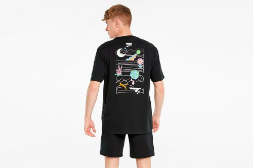 Camiseta Puma Downtown Graphic negra