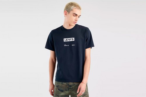 Camiseta Levi's CORTE RELAJADO negra