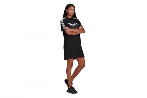 Vestido adidas MARIMEKKO TREFOIL PRINT INFILL negro