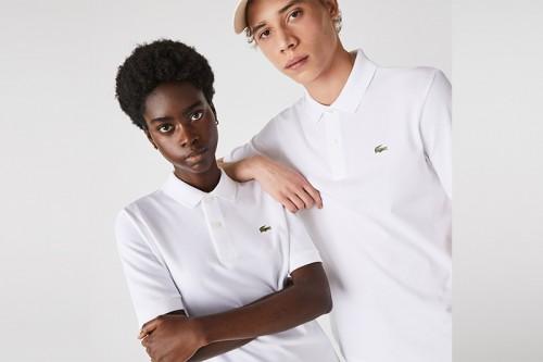 Camiseta Lacoste CHEMISE COL blanca