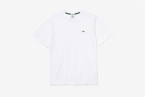 Camiseta Lacoste LIVE de algodón blanca