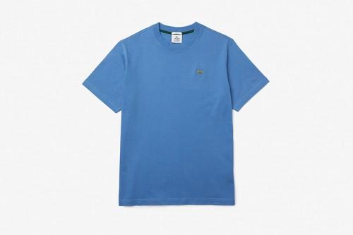 Camiseta Lacoste LIVE de algodón azul