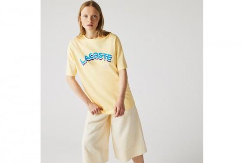 Camiseta Lacoste SABAYON amarilla