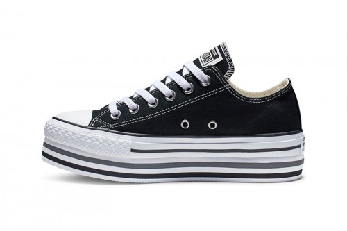 Zapatillas Converse Chuck Taylor All Star doble plataforma Negras