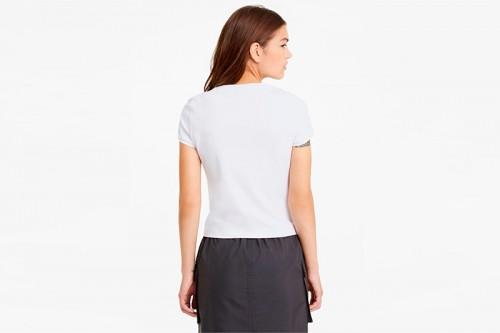Camiseta Puma Classics Fitted blanca