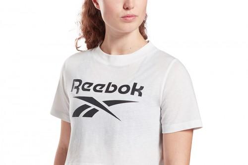 Camiseta Reebok RI Crop Tee blanca