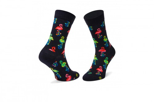 Calcetines Happy Socks FLAMINGO SOCK negros