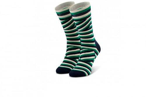 Calcetines Happy Socks JUMBO DOT STRIPE SOCK Verdes
