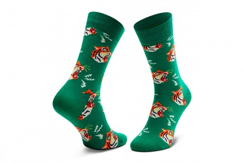Calcetines Happy Socks TIGER SOCK Verdes