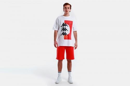 Camiseta Kappa AUTHENTIC HB ETAS blanca