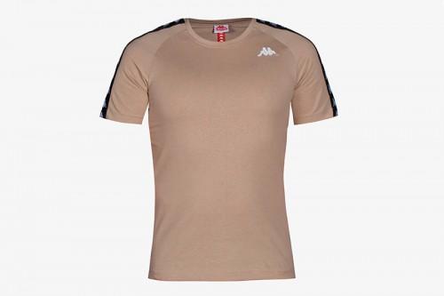 Camiseta Kappa COEN SLIM 222 BANDA TEE beige