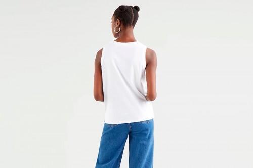 Camiseta Levi´s DARA TANK WHITE blanca