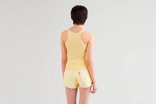 Camiseta Levi´s HIGH NECK TANK GOLDEN amarilla