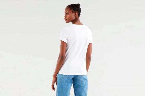 Camiseta Levi´s THE PERFECT TEE BATWING blanca