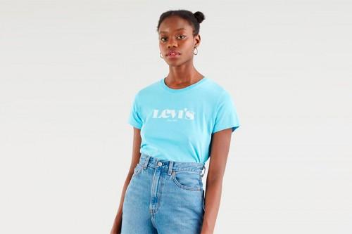 Camiseta Levi´s THE PERFECT TEE NEW LOGO azul