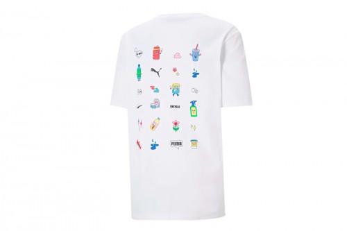 Camiseta Puma Downtown Graphic blanca