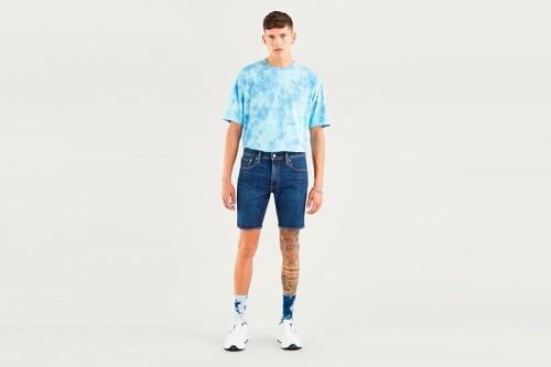 pantalones cortos Levi´s 412 SLIM SHORT HI BYE BYE Azules