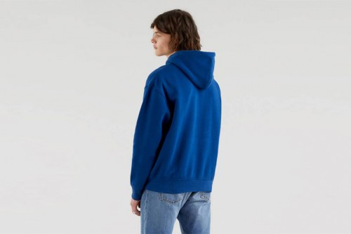 Sudadera Levi´s T3 RELAXD GRAPHIC HOODIE azul