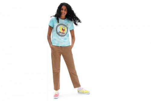 Camiseta Vans DE CUELLO REDONDO X BOB ESPONJA JUMP OUT Azul