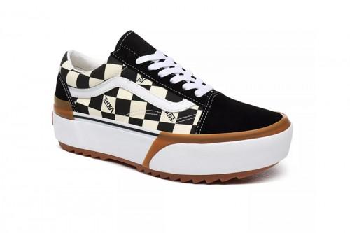 Zapatillas Vans Old Skool Stacked de plataforma Negras y Blancas