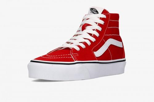 Zapatillas Vans SK8-Hi Tapered plataforma Rojas