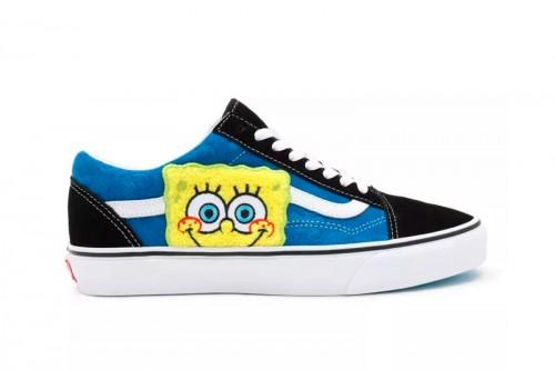 Zapatillas Vans X BOB ESPONJA OLD SKOOL Azules Marino
